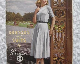 1940s Dresses & Suits Knitting Pattern Booklet Magazine - 7 Patterns - Vintage Sirdar - PDF