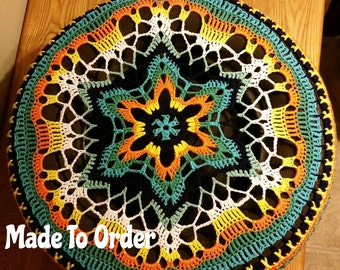 Kaleidoscope Crochet Spare Tire Cover