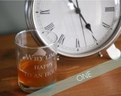 ONE Personalized Engraved Glasses - Double Old Fashioned