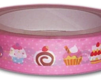 1 piece Yummy cupcakes and macaron Japanese Decoration Tape