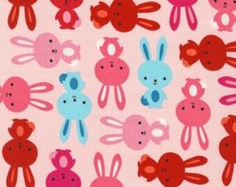 One (1) Yard - Urban Zoologie Bunnies Robert Kaufman Fabric AAK-14721-96 BLUSH Pink