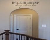 Love, Laughter and Friendship Wall Decal