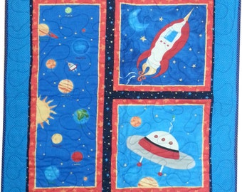Popular items for space quilt on etsy for Outer space quilt