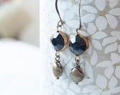 Treasure Island - seashell beaded earrings