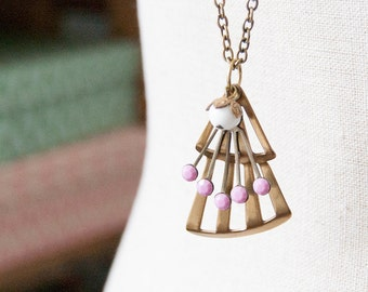 Rose Deco - long length necklace