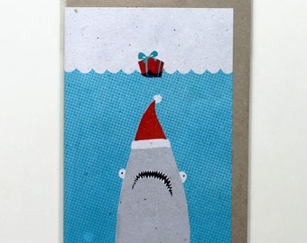 Christmas jaws card
