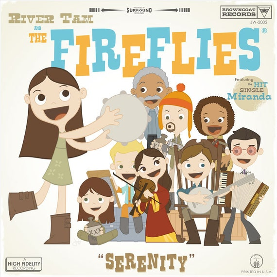 River Tam and the Fireflies Fake Album Cover | Firefly Gift Guide