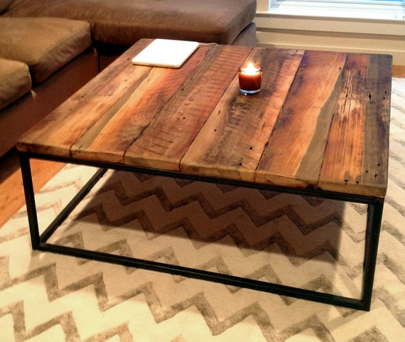 Amazon Com Black Steel Square Coffee Table: Free Shipping Large Square Coffee Table With Industrial Metal
