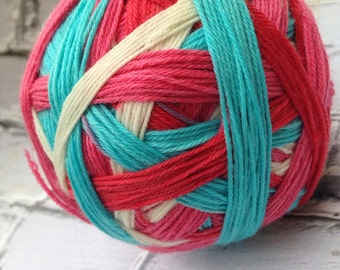 kitchey kitchen self striping sock yarn  dyed to order just for you
