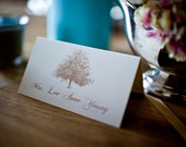 Wedding Place Cards / Escort Cards / Tree Themed / Flat Card / RESERVED LISTING