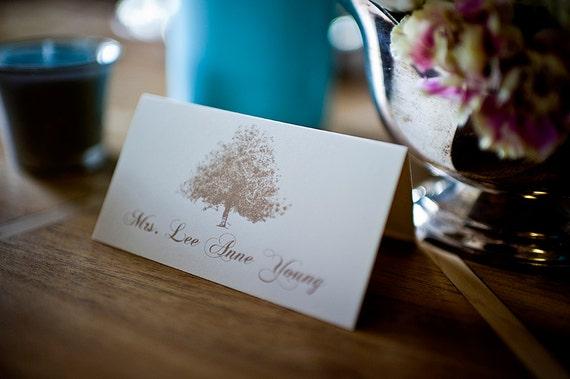 Tree Themed Wedding Place Cards / Escort Cards