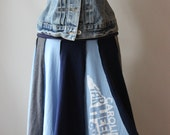 Recycled T Shirt Skirt, UNC  - ladies medium/large