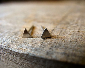 Sterling Silver Triangle Post Earrings 3mm