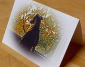 LOST IN THOUGHT Greyhound Folded Note Card