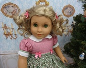 Holiday Wreath - vintage style dress for American Girl