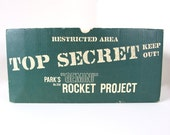 Vintage Empty Gemini Rocket Project Top Secret Box