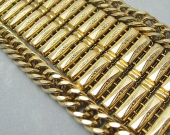 Wide Vintage Bracelet Bold Jewelry Chain B6251