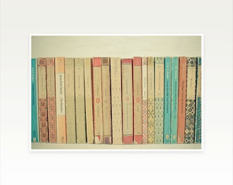Reading Art, Book Art, Still Life Photography, Gift for Book Lover, Library Wall Decor, Neutral Decor, Preppy, Literature - Books