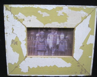 RECLAIMED WOOD Picture Frame 4x6 Shabby White Recycled CHIC s2249-14