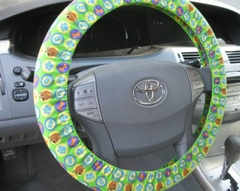 Scooby Doo Dog Tags * Steering Wheel Cover * Ruh Roh