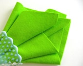 Chartreuse Felt, 100% Wool, Choose Size, Bright Green, Neon, Craft Sewing Supply, Waldorf Handwork, Wollfilz, DIY Felt Craft, Nonwoven Wool