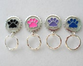Magnetic or PIn ID Badge Holder or  Reading /Sun Glasses  Holder  Paw 2 with Extra Magnet Affixed