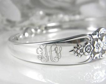 Spoon Bracelet, Silver Spoon Bracelet, FREE ENGRAVING, Silverware Bracelet