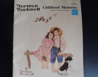 Paragon Country Cross Stitch designs by Norman Rockwell Childhood Memories
