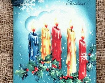 Retro Christmas Candle Tags #310