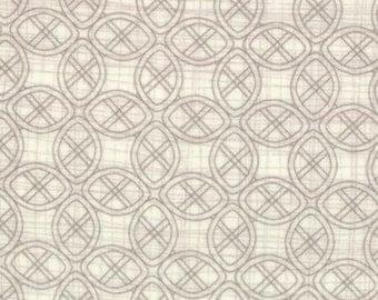 Christmas Fabric Winters Lane Tiles in Snow by Kate & Birdie 1/2 Yard