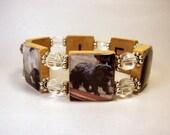 NEWFOUNDLAND Dog Bracelet / NEWFIE / Upcycled SCRABBLE Handmade Jewelry
