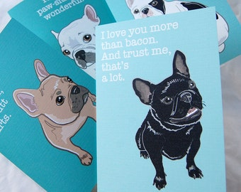 Frenchie 4-Card Pack - Greeting Cards