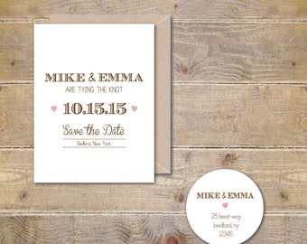 Wedding Save The Dates . Rustic Save The Dates . Wedding Announcements . Rustic - Simple & Modern