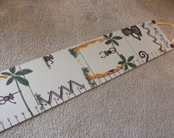 Children's Foldable Growth Chart, Monkeys