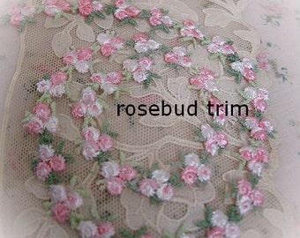 Sweet Vintage Rosebud Trim