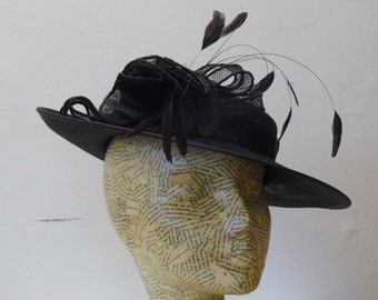 Sample SALE - Mother Of The Bride Hat -Chocolate Brown
