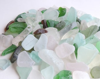 Bulk of Small Craft quality THICK SEAGLASS Lot of 18 pcs / For crafts and jewelry / P37