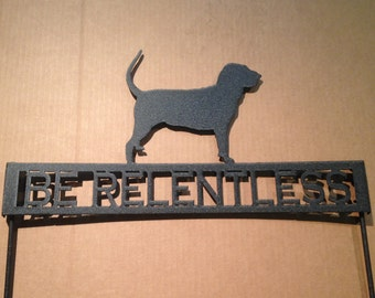 Bloodhound Metal Garden Stake with Personalized Text Field (W23)