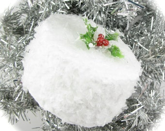 "Coconut Cake Christmas Ornament. Approx. 3.5""w x 2.""h. Shabby Chic or Baker's Tree, 12 Legs Signature Design"