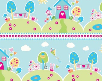 Sweet Home Main Blue - Riley Blake - cotton woven fabric by the yard