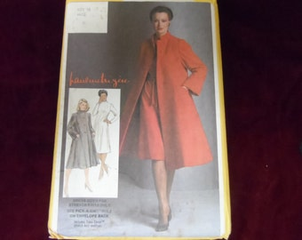 Simplicity 9712 Coat and Dress Pattern Size 16