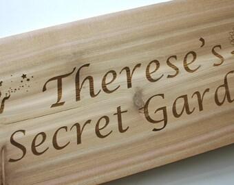 Personalized Cedar Sign Laser Engraved Wood Sign Custom Engraved Sign