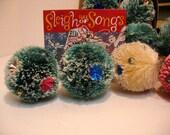 Vintage Lot of 10 Christmas Cush Pine Tree Spongy Bulbs Balls Christmas Wreath Balls