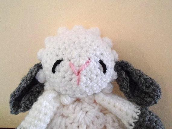 Crochet PATTERN, Little Baby Lamb Cuddle Blanket, baby ...