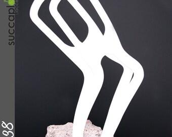 SIZE-M (pair) -Succaplokki- Pair of Plastic Knitting Sock Blockers, splinter free blockers made out recycled plastic