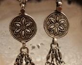 Silver Tribal Dangle Earrings
