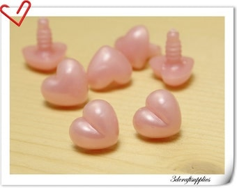 17 mm Pink safety Noses Doll Noses Toy Noses Amigurumi noses 18 pcs EA8