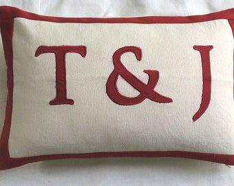 Word pillow  12x 18.  custom  made. colours  of  your  choice.