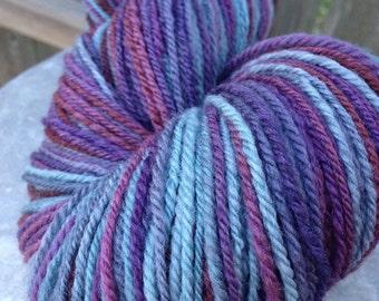 Handspun Yarn Sock Yarn 'Inkling' falkland wool 390 yds Nest Fiber Studio