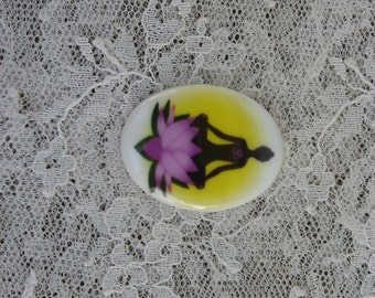 Wholesale Jewelry Supplies Yoga Pose Cabochon OM Cameo 30x40mm Cabochon Jewelry Design Supplies